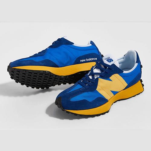 New Balance 327 Blue and Yellow