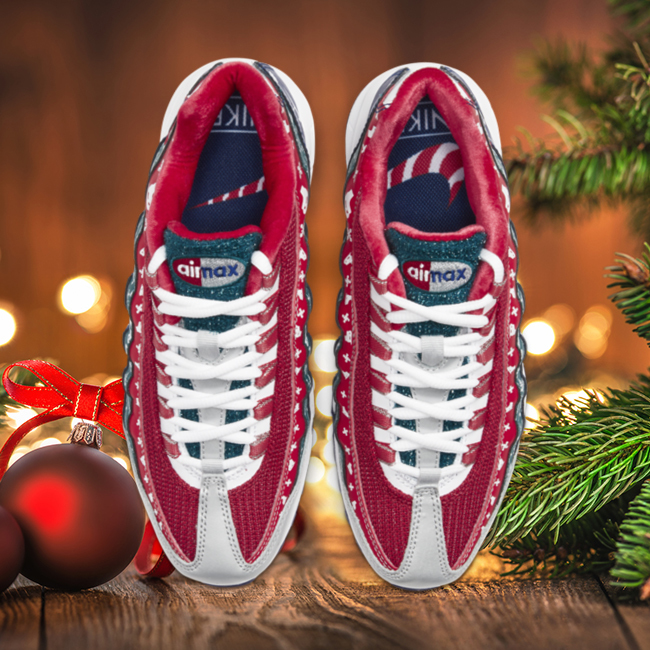 nike air max 95 christmas sweater