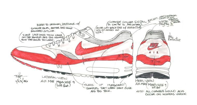 nike air max 1 tinker sketch