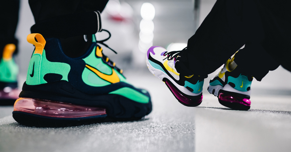 Air max 270 react elector green dynamic yellow