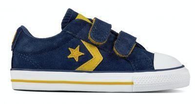 Converse Star Player kindersneaker blauw en geel