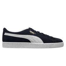 Puma Suede herensneaker blauw en wit