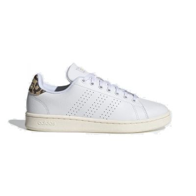 Adidas Advantage damessneaker print en wit