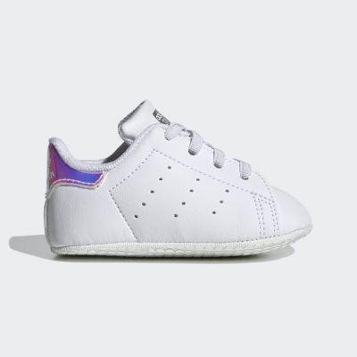 Adidas Stan Smith babysneaker zilver en wit