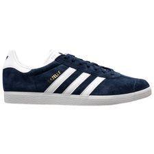 Adidas Gazelle herensneaker blauw, goud en wit