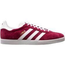 Adidas Gazelle herensneaker rood, goud en wit