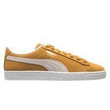 Puma Suede herensneaker geel, wit en bruin