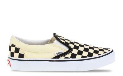 Vans Classic Slip-On damessneaker zwart, beige en multicolor