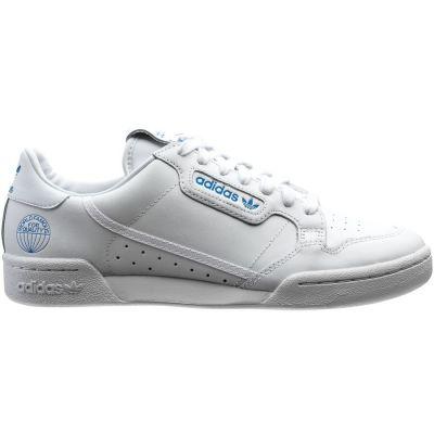 Adidas Continental 80 herensneaker blauw en wit