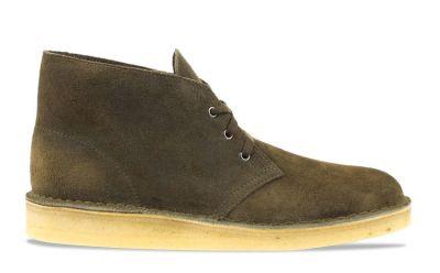 Clarks Desert Boot herensneaker groen en bruin
